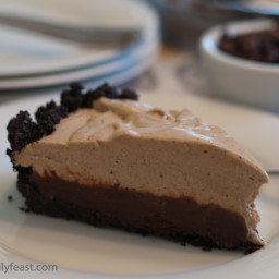 Espresso Black Bottom Pie