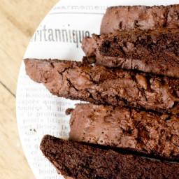 Espresso Salted Dark Chocolate Biscotti