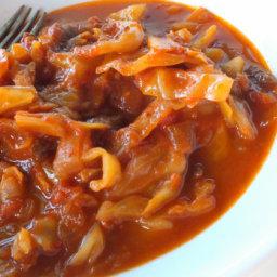 Etli Kapuska - Turkish Cabbage Stew With Meat