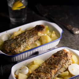 European Cod And Potato Salad (Prženi Oslić i Krompir Salata)