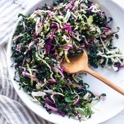 Everyday Kale Salad with Roasted Lemon Vinaigrette