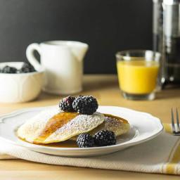 Fabulous Lemon Ricotta Pancakes with Blackberries (Vegan)