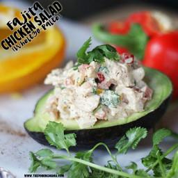 Fajita Chicken Salad {Paleo, Whole30 Compliant}