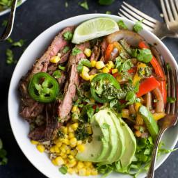 Fajita Steak Burrito Bowls