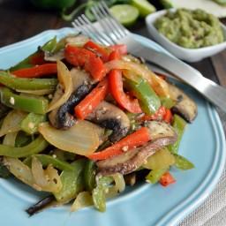 Fajitas vegetarianas de portobello