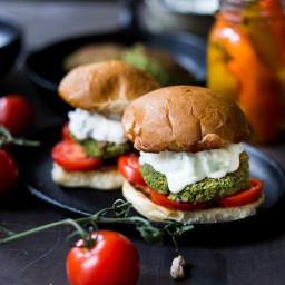 Falafel Burgers with Tzatziki