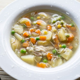 Fall Apart Chicken Vegetable Crockpot Soup