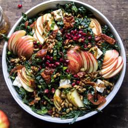 Fall Harvest Honeycrisp Apple and Kale Salad