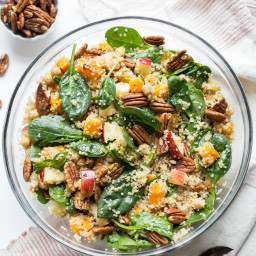 Fall Quinoa Salad with Butternut Squash and Apples