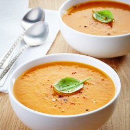 Fall Roasted Sweet Potato and Carrot Soup Recipe