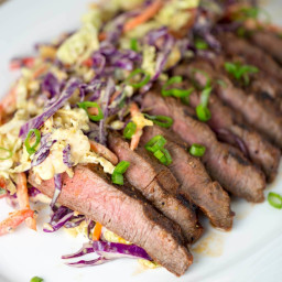 Family Style Marinated Grilled Flat Iron Steak