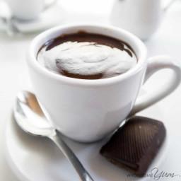 Fancy Low Carb Hot Chocolate (Sugar-free, Gluten-free)