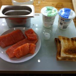 Farce of fresh salmon (Pacojet)