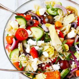 Farfalle Pasta Salad Mediterranean Style