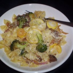 Farfalle with Broccoli, Chorizo and Squash
