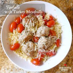 Farfalle with Turkey Meatballs