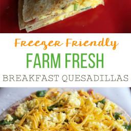 Farm Fresh Breakfast Quesadillas {Freezer Meal}