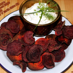 Farmer Freddy's Oven Baked Beet Chips & Homemade Dip