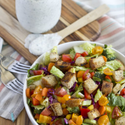 Farmer's Market Salad with Homemade Ranch Dressing