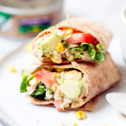 Farmer's Market Spicy Tuna Wraps with Homemade Chipotle Greek Yogurt Ranch