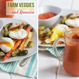 Farm Veggies with Romesco Sauce
