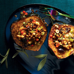 Farro-and-White-Bean-Stuffed Acorn Squash