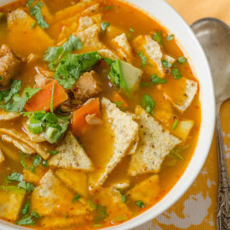 Fast and Easy Turkey Tortilla Soup