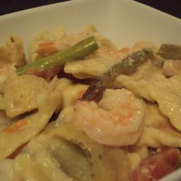 Fast Shrimp and Asparagus Pasta