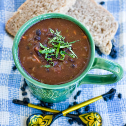 Fat Free Vegan Black Bean Soup Recipe