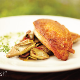 Fennel-Braised Chicken and Artichokes