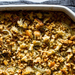 Fennel Gratin with Walnut-Thyme Breadcrumbs
