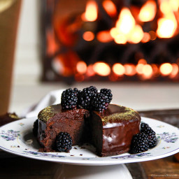 Fergalicious Chocolate Cake with Blackberry Coulis