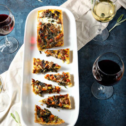 Festive Brunch: Hearty Winter Quiche and Wine