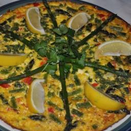 Feta Asparagus Frittata
