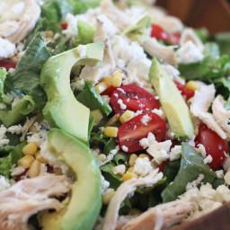 Feta Avocado Chicken Salad