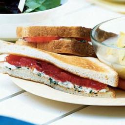 Feta-Basil Sandwiches