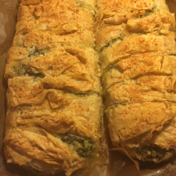 Feta, Phyllo, and Spinach Croustade