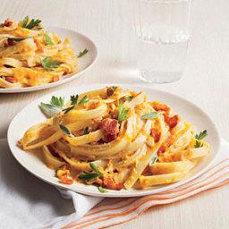 Gluten free Pasta with Pumpkin Sauce