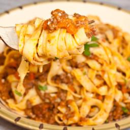 Fettucini Bolognese