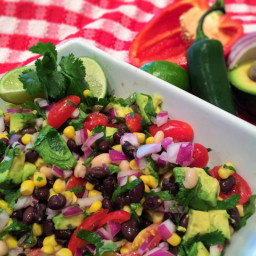 Fiesta Black Bean Salad with Avocado and Lime