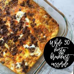 fiesta breakfast casserole