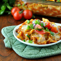 Fiesta Enchilada Casserole and Healthy Homemade Enchilada Sauce