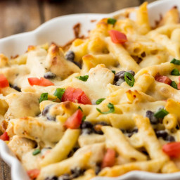 Fiesta Ranch Chicken Pasta Casserole