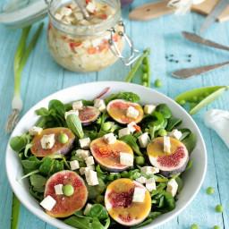 Fig and Green Pea Salad with Tofu Feta