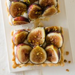 Fig and Honey Yogurt Tart