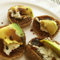 Fig goat cheese avocado snack