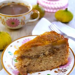 Fig Upside Down Coffee Cake Recipe