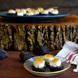 Fig  and  Candied Lemon Bites with Chevre