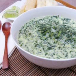 Fijian Roro (stew of greens) + Boiled Cassava