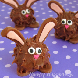 Fill your Easter Baskets with Peanut Butter Fudge Filled Chubby Bunnies